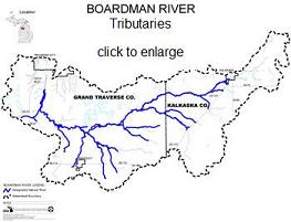 Boardman River Tributaries Map